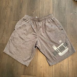 Gray and White Ball Is Life Shorts